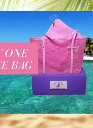 Mayan-Goddess-Waterproof-Pink-Lace-Beach-Tote