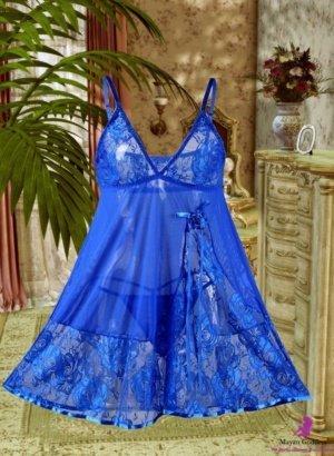 Blue-Floral-Lace-Apron-Chemise-DISPLAY-GONE-GLOBAL-APP