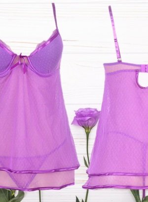 Bright-Purple-Sheer-Mesh-Babydoll-DISPLAY-global