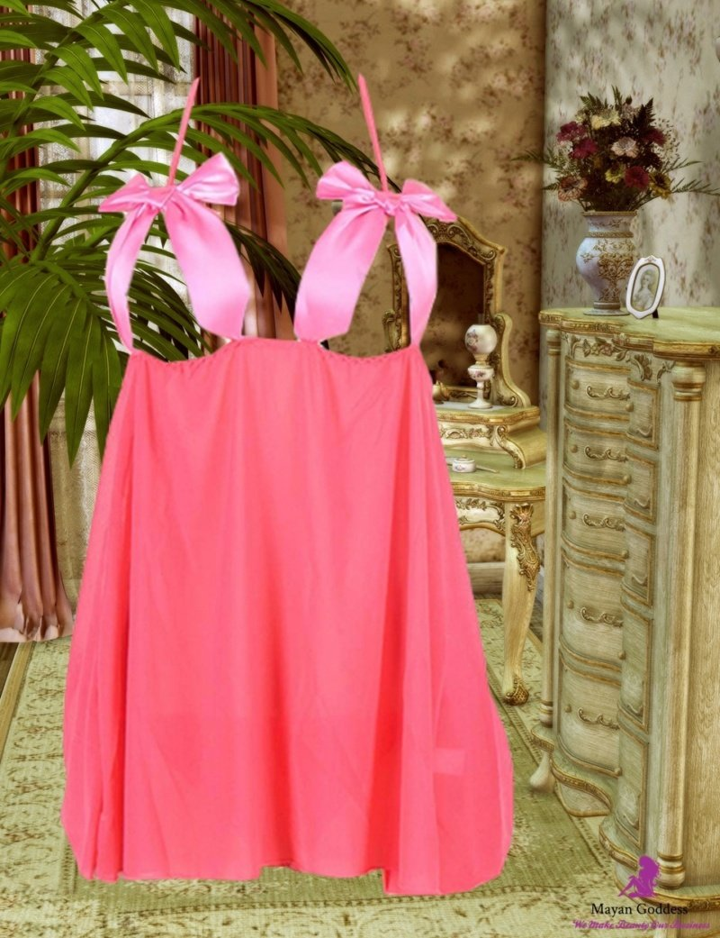 Open-Cup-Satin-Bows-Pink-Babydoll-DISPLAY-GONE-GLOBAL-APP