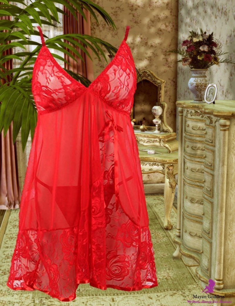 Red-Floral-Lace-Apron-Chemise-DISPLAY-GONE-GLOBAL-APP