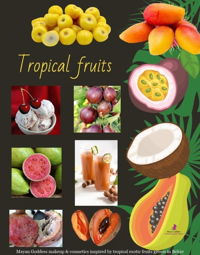 Mayan-Goddess-makeup-cosmetics-inspired-by-tropical-exotic-fruits-grown-in-Belize